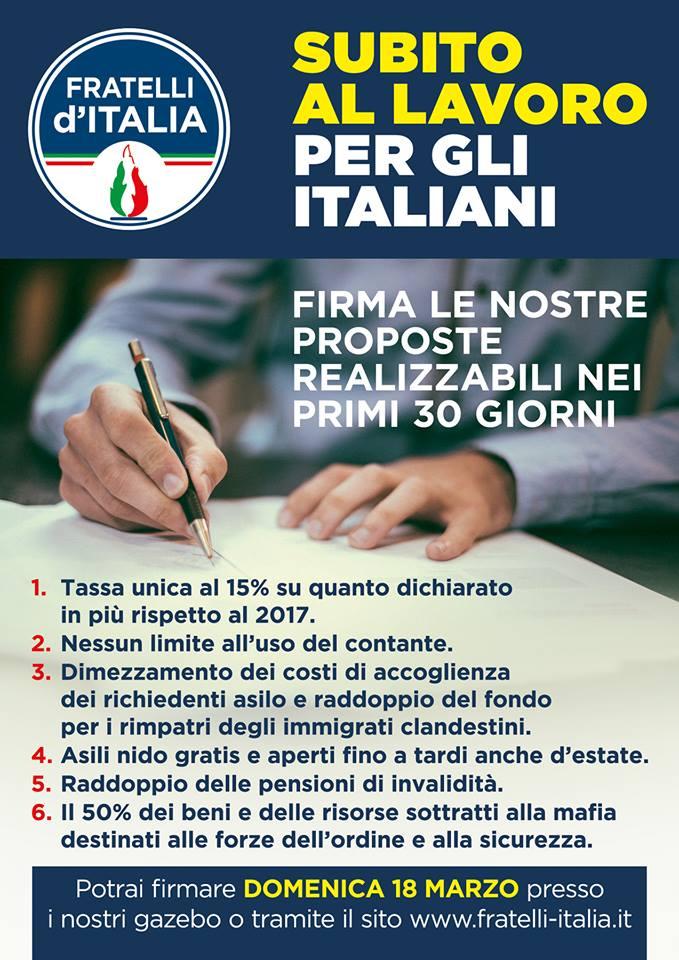 Subito al lavoro per gli italiani fratelli d 39 italia pagani for Subito offerte lavoro roma